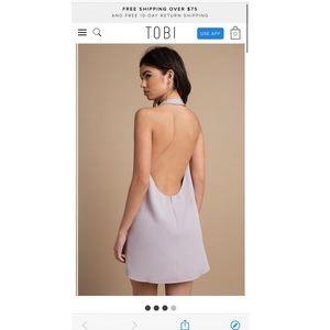 Tobi revelry open back shift dress